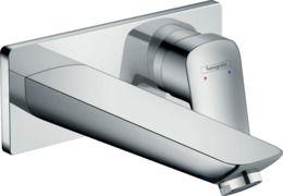 Hansgrohe Logis jednouchwytowa bateria umywalkowa montaż ścienny podtynkowy, wylewka 19,5 cm, element zewnętrzny