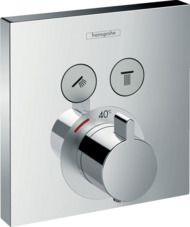 Hansgrohe ShowerSelect bateria termostatyczna do 2 odbiorników, montaż podtynkowy, element zewnętrzny