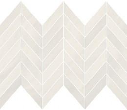Cersanit mozaikaMarkuria white chevron, wykończenie matowe, 29,8 cm x 25,5 cm