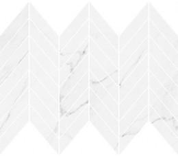 Cersanit mozaika Marinel white chevron glossy, wykończenie matowe, 29,8 cm x 25,5 cm