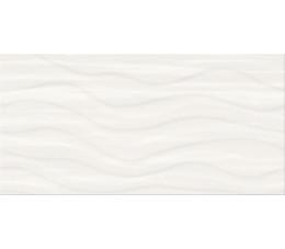 Cersanit płytki ścienne PS803 white satin wave structure 29,8 cm x 59,8 cm
