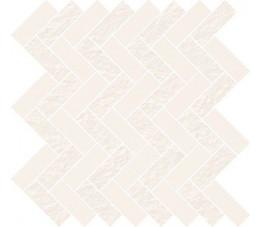 Cersanit mozaika White Micro mosaic parquet 31,3 cm x 33,1 cm