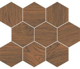 Cersanit Finwood ochra mosaic hexagon 28 cm x 33,7 cm