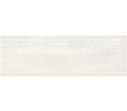 Cersanit dekoracje ścienne Ferano white patchwork inserto satin 24 cm x 74 cm