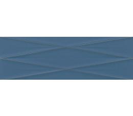 Cersanit dekoracje ścienne Gravity marine blue silver inserto satin 24 cm x 74 cm