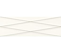 Cersanit dekoracje ścienne Gravity white silver inserto satin 24 cm x 74 cm