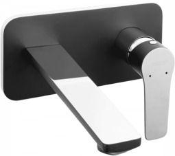 Ferro Adore Black/Chrome bateria umywalkowa podtynkowa, czarny/chrom