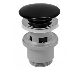 Ferro korek ceramiczny clic-clac do umywalek z przelewem, czarny