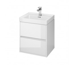 Cersanit zestaw Crea 50 cm, kolor: biały (szafka + umywalka)