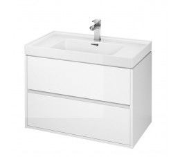 Cersanit zestaw Crea 80 cm, kolor: biały (szafka + umywalka)