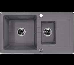 Deante zlewozmywak 1,5 komorowy z ociekaczem Zorba, kolor: szary metalik