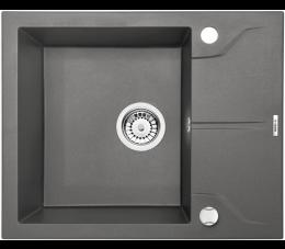 Deante zlewozmywak 1-komorowy z ociekaczem Andante Flush, kolor: antracyt