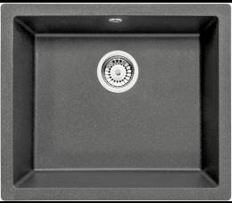 Deante zlewozmywak 1-komorowy bez ociekacza Corda Flush, kolor: antracyt