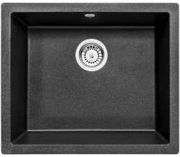 Deante zlewozmywak 1-komorowy bez ociekacza Corda Flush, kolor: grafit metalik
