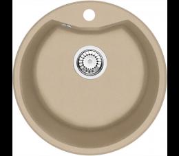 Deante zlewozmywak okrągły 1-komorowy z kołnierzem Solis, kolor: piaskowy