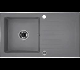 Deante zlewozmywak 1-komorowy z ociekaczem Zorba, kolor: szary metalik