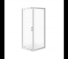 Cersanit zestaw kabina Arteco kwadratowa 80 cm x 80 cm x 190 cm + brodzik Tako 80 cm x 4 cm
