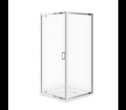 Cersanit zestaw kabina Arteco kwadratowa 90 cm x 90 cm x 190 cm + brodzik Tako 90 cm x 4 cm