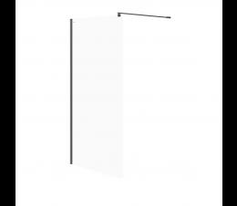 Cersanit kabina prysznicowa walk-in Mille 120 cm x 200 cm, profil: czarny