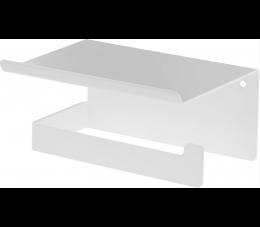Deante uchwyt na papier toaletowy z półką Mokko, kolor: biały