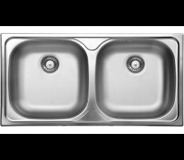 Deante Xylo zlewozmywak stalowy 2-komorowy bez ociekacza - dekor