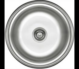 Deante Twist zlewozmywak okrągły 1-komorowy okrągły bez ociekacza, satyna