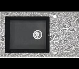 Deante Capella zlewozmywak szklano - granitowy 1- komorowy z ociekaczem, grafit