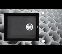 Deante Capella zlewozmywak szklano- granitowy 1- komorowy z ociekaczem, szary metalik