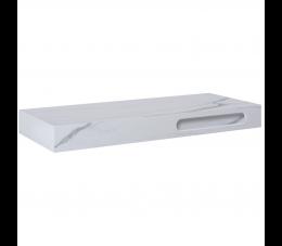 Elita ElitStone konsola marmur Calacatta 140 cm x 46 cm x 12 cm, white matt