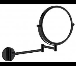 Deante Round lusterko kosmetyczne na ramieniu 2-stronne, 3x powiększenie, czarne