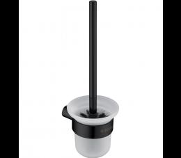 Deante Round szczotka wisząca WC z pojemnikiem, czarny