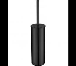 Deante Round szczotka WC wolnostojąca z pojemnikiem, czarna