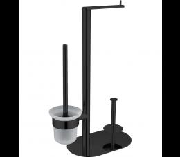 Deante Round stojak na papier 3- funkcyjny, czarny