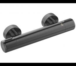 Laveo Pretto bateria natryskowa ścienna termostatyczna bez zestawu natryskowego, grafit