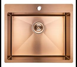 Laveo Marmara zlewozmywak 1-komorowy bez ociekacza, różowe złoto