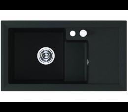 Laveo Bonafaro zlewozmywak 1,5-komorowy z ociekaczem, czarny