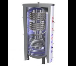 Elektromet wymiennik buforowy WGJ-B INOX 1000L z wężownicą ze stali nierdzewnej