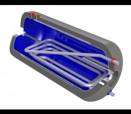 Elektromet wymiennik poziomy WGJ-g DUOSOL 200L z wężownicą i dwupłaszczem