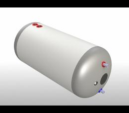 Elektromet wymiennik poziomy WGJ-g DUOSOL 200L z wężownicą i dwupłaszczem, obudowa z tworzywa