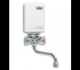 Wijas elektryczny przepływowy ogrzewacz wody Perfect 3,5 kW, z baterią wylewka 150 mm