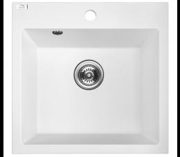 Laveo Alena zlewozmywak granitowy 1-komorowy, kolor: biały
