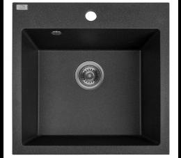 Laveo Alena zlewozmywak granitowy 1-komorowy, kolor: czarny