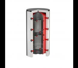 Flamco zbiornik buforowy z dwiema wężownicami FlexTherm PS/T 1000L (Ø850)