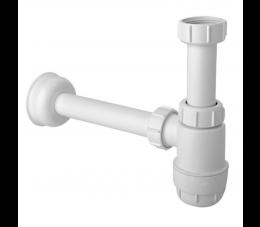 """McAlpine syfon umywalkowy butelkowy """"niski"""" 1.1/4″x1.1/4″, bez spustu."""
