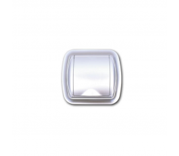 USTM gniazdo ssące z ramką Uno, kolor: srebrny
