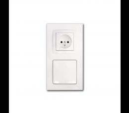 USTM gniazdo ssąco- elektryczne DecoVac, kolor: biały