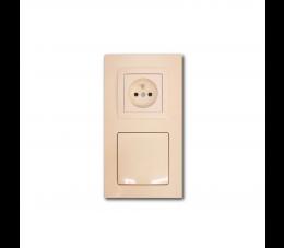 USTM gniazdo ssąco- elektryczne DecoVac, kolor: kremowy