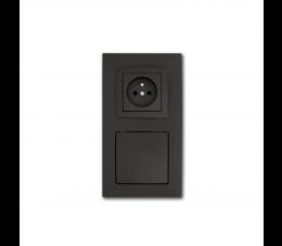 USTM gniazdo ssąco- elektryczne DecoVac, kolor: czarny