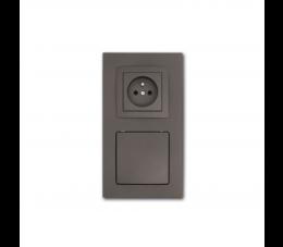 USTM gniazdo ssąco- elektryczne DecoVac, kolor: grafit