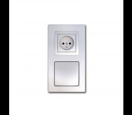 USTM gniazdo ssąco- elektryczne DecoVac, kolor: srebrny